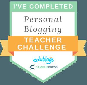 Edublogs Personal Blogging Course badge