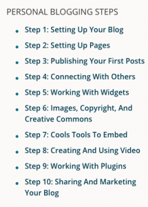 10 steps to a personal blog