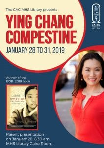 Ying Chang Compestine author visit poster